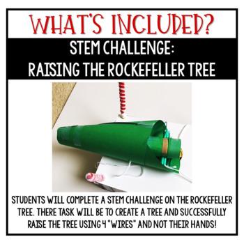 Christmas Activities Rockefeller Tree STEM Challenge, Math Activities, & More!