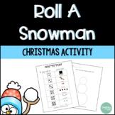 Christmas Activities   Roll a Snowman