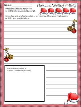 Christmas Activities: Santa In My Chimney Christmas Craft-Writing Activity