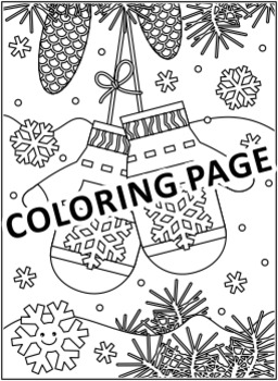 Christmas Activities: Santa's Mittens Find the Differences and Coloring Page, CU