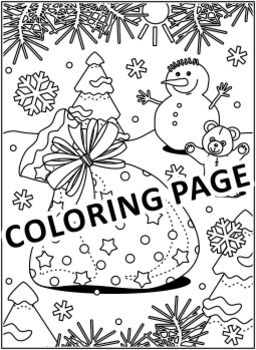 christmas activities santas sack find the differences and coloring page