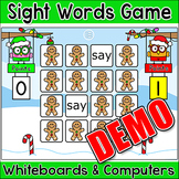 Christmas Activities - Sight Words Memory Game Demo - Smar