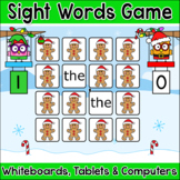Christmas Activities Sight Words Gingerbread Man Memory Game for SmartBoards