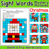 Christmas Activities: Color by Sight Words Mystery Pictures