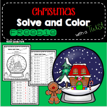 Christmas Activities - Solve and Color with a Twist Worksheet FREEBIE!
