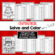 Christmas Worksheets - Solve and Color with a Twist Activities