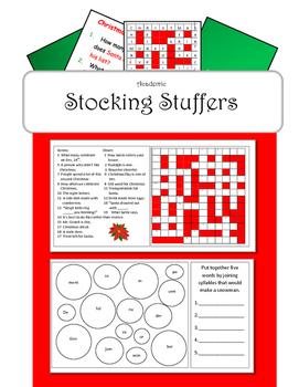 Christmas Activities Stocking Stuffers
