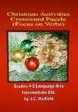 Christmas Activities Crossword Focus on Verbs