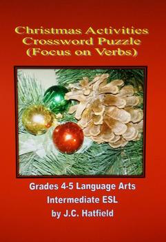 Christmas Activities Crossword Focus on Verbs