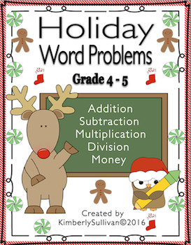 Christmas Math Activities Word Problems Early Finishers Task Cards