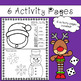 Christmas Activities Worksheets - (Roll a Face + Trace and Color)