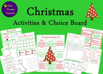 Christmas Activities and Choice Board