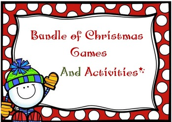 Christmas Activities and Printables for Listening, Speaking, & Writing