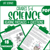 At Home Learning Life Science Reading Comprehension Passages & Questions | Gr5-6