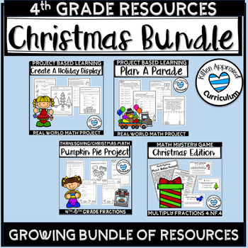 Christmas Activities for 4th Grade Bundle