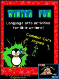 Christmas Winter NO PREP Reading Writing  Kinder & Grade 1