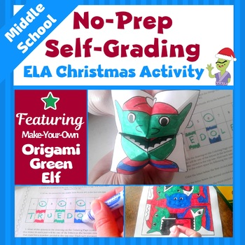 Christmas Activities for Middle School | ELA Activities | Christmas ELA Activity