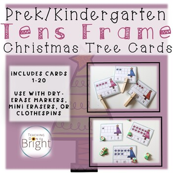 Christmas Activities for Preschool - Tens Frames Cards