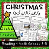 Christmas Activities: NO PREP Reading and Math