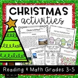 Christmas Activities: NO PREP Reading and Math