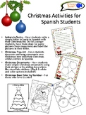 Christmas Activities for Spanish Students (Grades K-5)