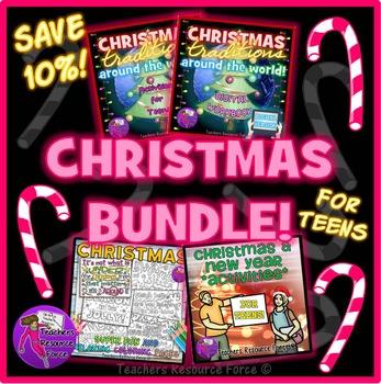 Christmas Activities for Teens - BUNDLE