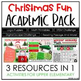 Christmas Activities for Upper Elementary | THREE RESOURCE