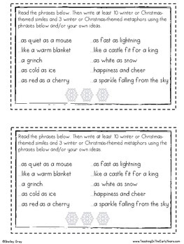 Christmas Activities {for the Early Finisher Board™}