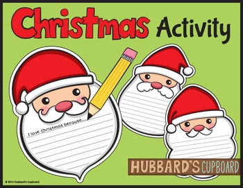 FREEBIE!  Holiday Activites - Christmas Activities - Christmas Writing - Free