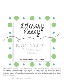 A Christmas Carol - Literary Essay Writing (Christmas Activity)