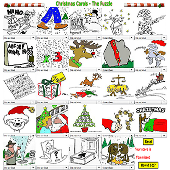 Christmas Song Puzzle \u0026 Worksheets