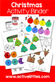 Christmas Activity Binder (Busy Book Quiet Book) - December