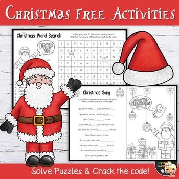 Christmas Activities Free