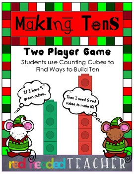 Christmas Activity - Building Tens Game