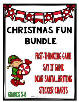 Christmas Activity Bundle: Games, Writing, and Sticker Charts