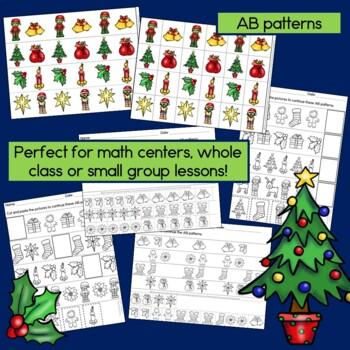 Christmas Activity Bundle - Kindergarten: Reading, Graphs, Patterns & More