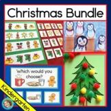 Christmas Activity Bundle - Kindergarten: Reading, Graphs,