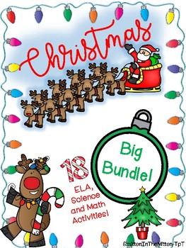 Christmas Activities Holiday Bundle - Math, ELA and STEM - NO PREP