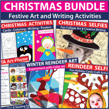 Christmas Activity Bundle - Coloring Pages, Art, Writing