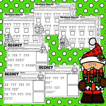 Christmas Activity CVC Words Nonsense