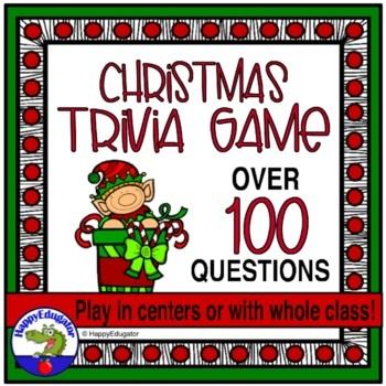 Christmas Activity - Christmas Trivia Game