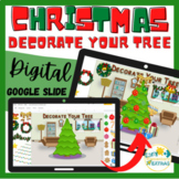 Christmas Activity - Digital Decorate a Christmas Tree, Google Slides ™