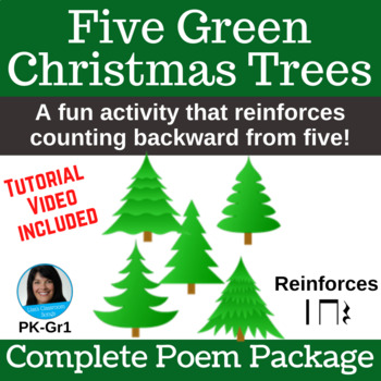 "Christmas Activity | ""Five Green Christmas Trees"" 