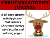 FREE Christmas Activity Journal
