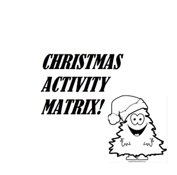Christmas Activity Matrix