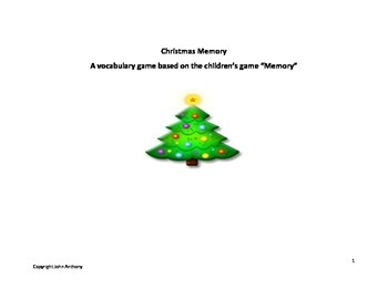 Christmas Activity - Memory Game