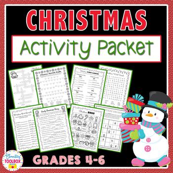 Christmas Activity Pack (Math, ELA, & Games)