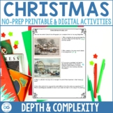 Christmas Activity Pack   Depth and Complexity   Print & D