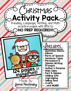 Christmas Activity Pack: Little to No Prep Activities for RLA & Math!