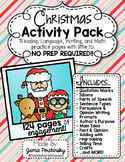 Christmas Activity Pack: Little to No Prep Activities for